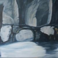Un riflesso, olio su tela cm 120x80
