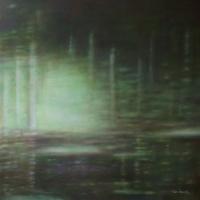 Un silenzio, olio su tela cm 100x100