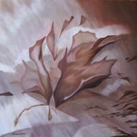 Ottobre, olio su tela cm 70x70