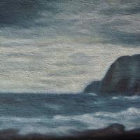 Appare, olio e sabbia su tavola cm 25x40