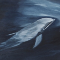 Moby, olio su tela cm 33x33