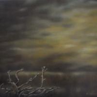 Prima della pioggia,olio su tela cm 40x50