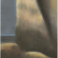 Eterno, pastello a olio su carta cm 35x13