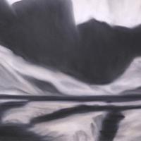 Ghiaccio, pastello a olio su carta cm 35x50