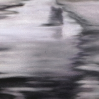 Neve, pastello a olio su carta cm 40x75