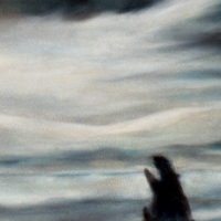 Luce, Pastello a olio su carta cm 22x76