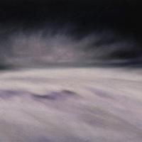 Neve, pastello a olio su carta cm 22x75