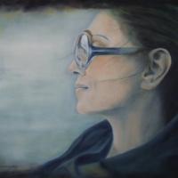 Une femme très douce, Marilena olio su tela cm 50x70