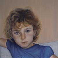 Marta, olio su tela cm 40x40