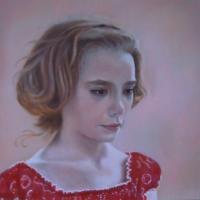 Cecilia, olio su tela cm 40x40